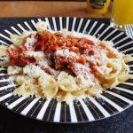 Sparhörnchen empfiehlt:  Eingekochte Tofu-Gemüse-Bolognese für 1 Euro
