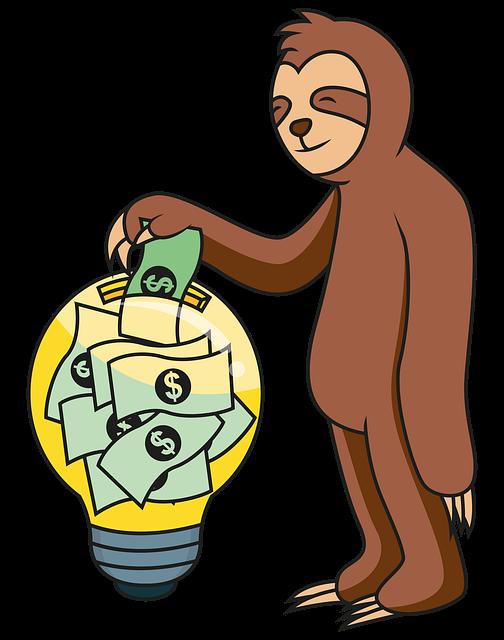 Die bisherige Haltung des Sparhörnchens zum Thema Geld Sparen mit einem Stromanbieterwechsel.